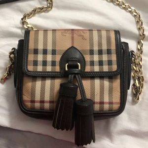 Burberry mini tassel chain bag